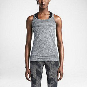 Nike Women's FItted strap Dri-fit Grey Knit Tank S